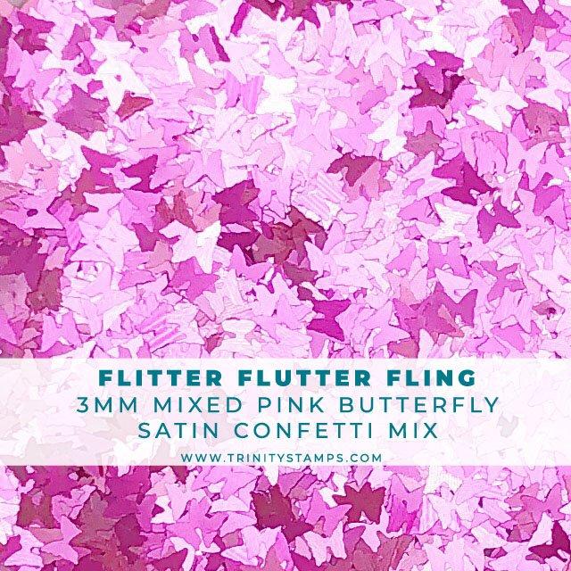 Flitter Flutter Fling: tiny satin butterfly confetti mix