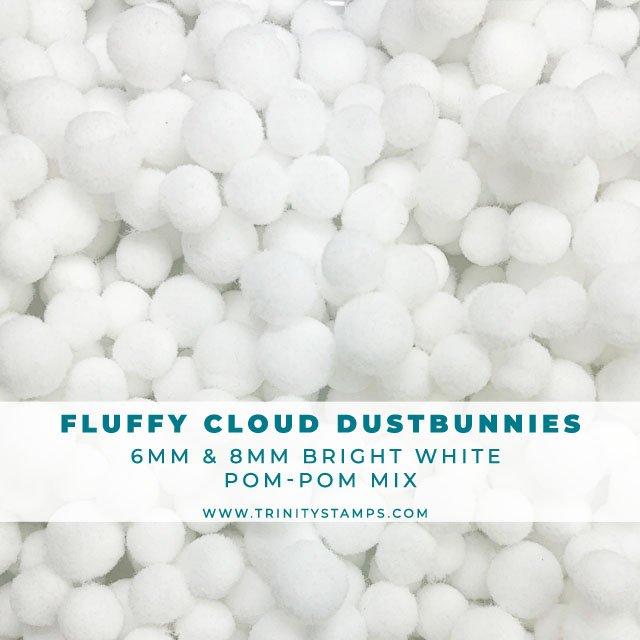 Fluffy Cloud Dustbunnies - White Pom-Pom Mix