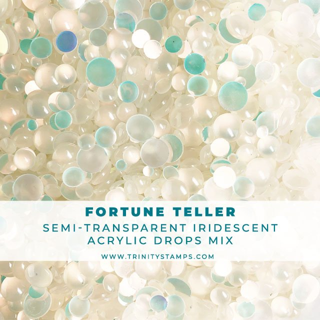 Fortune Teller - Semi-Transparent Iridescent Embellishment Mix