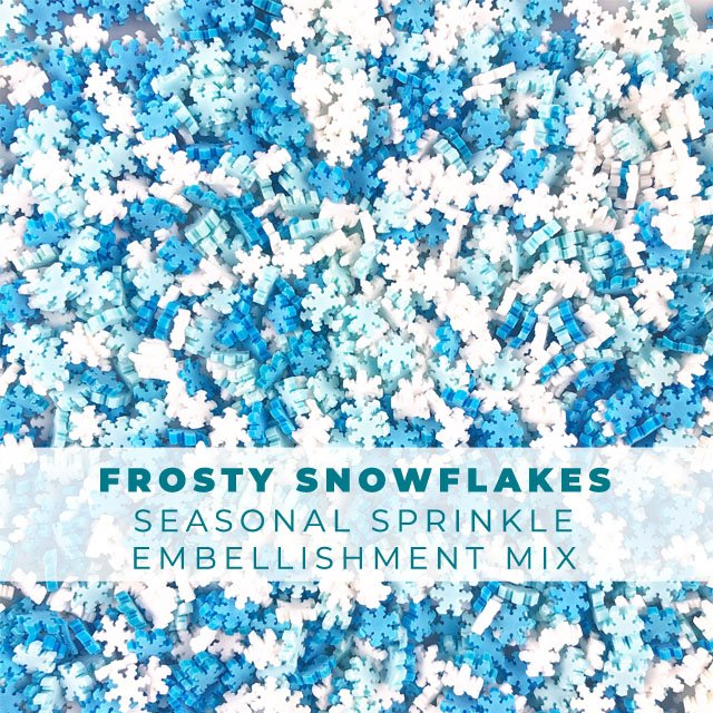 *Sprinkles* Frosty Snowflakes Sprinkle Embellishments