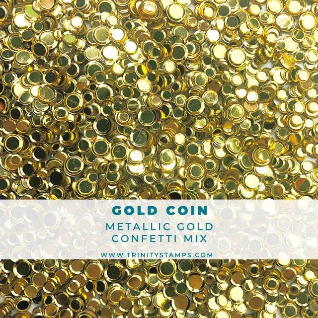 Gold Coin Metallic Confetti Mix