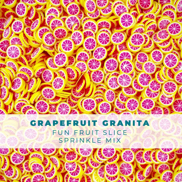 Grapefruit Granita - Fruit Slice Sprinkle Embellishment Mix