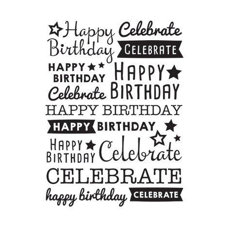 Scattered Happy Birthday Embossing Folder