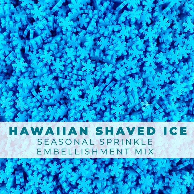 *Sprinkles* Hawaiian Shaved Ice - Snowflakes Sprinkle Embellishments