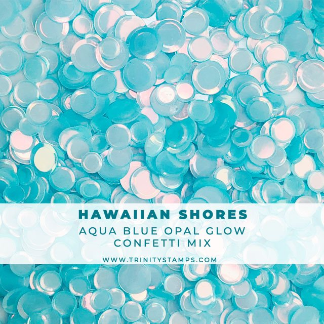 Hawaiian Shores opal sheen confetti mix