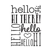 Hello Greeting Background Embossing Folder