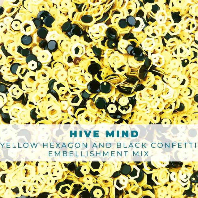 Hive Mind: Hexagon and Circle Confetti Mix