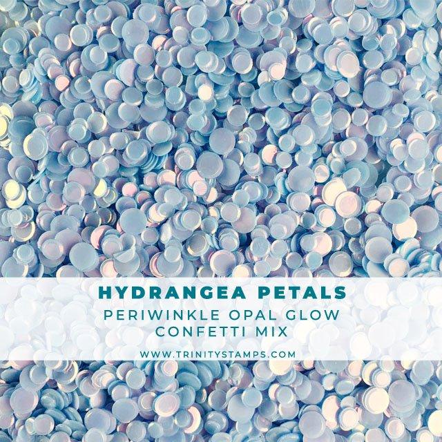 Hydrangea Petals opal sheen confetti mix