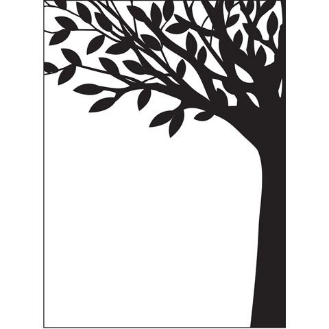 Leafy Tree Embossing Folder