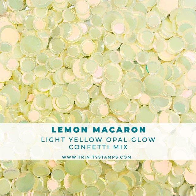 Lemon Macaron opal sheen confetti mix