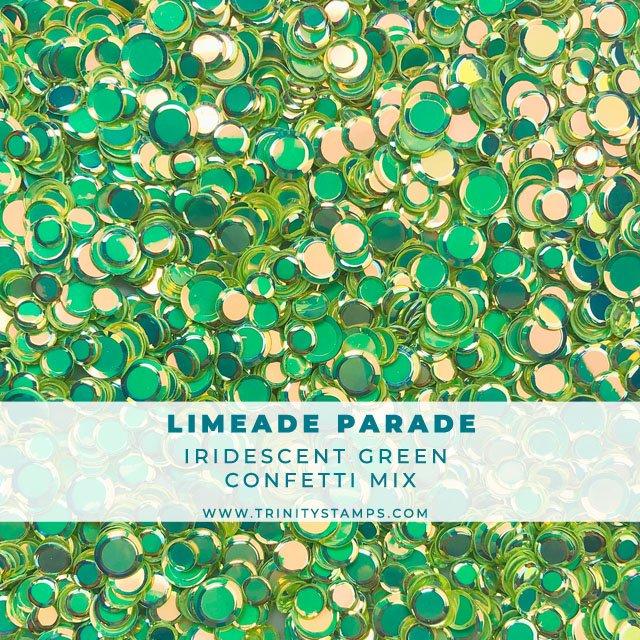 Limeade Parade Iridescent Confetti Mix