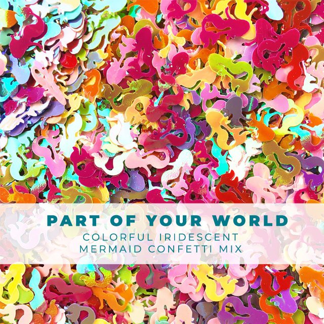 Part of your World: Mixed colors of Mermaid confetti