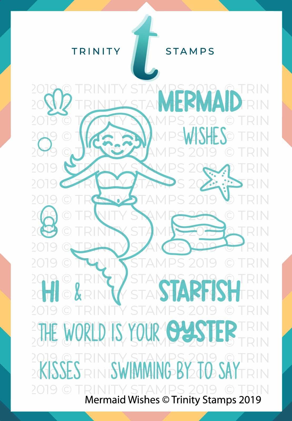 Mermaid Wishes 3x4 Stamp Set
