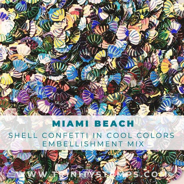 Miami Beach: Tiny Shell Confetti in Cool color hues