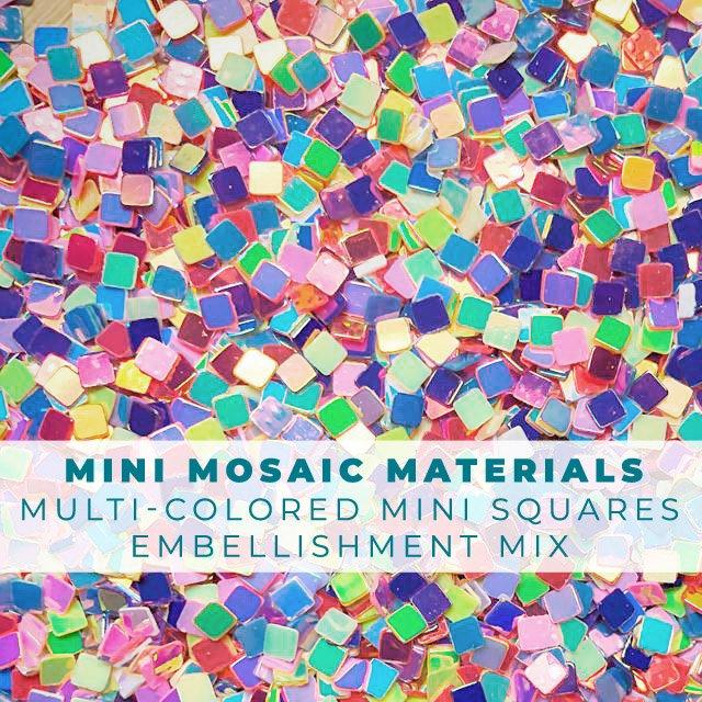 Mini Mosaic Materials - Tiny Squares Confetti Embellishment Mix