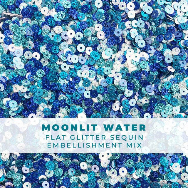 Moonlit Water - Flat Glitter-Coated Sequin Confetti Mix