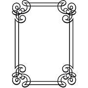 Ornate Swirl Frame Embossing Folder