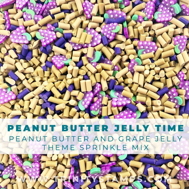 Peanut Butter Jelly Time: PB&J Clay sprinkle assortment