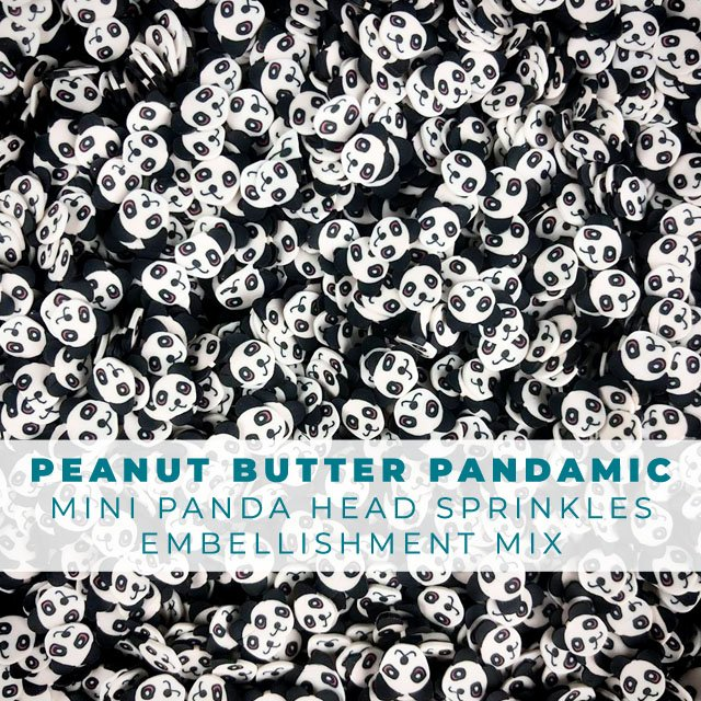 Peanut Butter PANDAmic Animal Sprinkles Embellishments