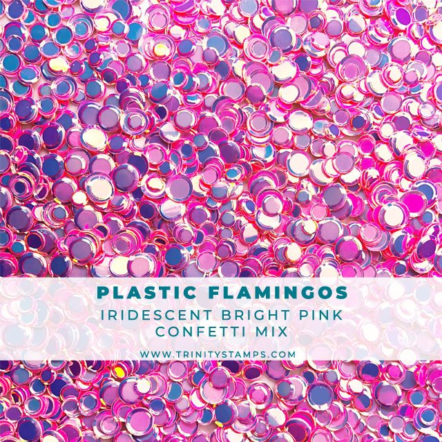 Plastic Flamingo Iridescent Confetti Mix