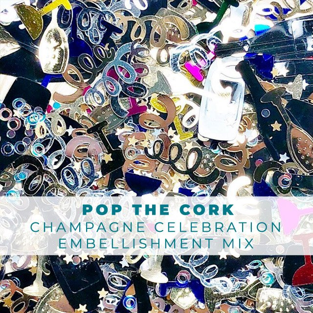 Pop The Cork - Celebration Confetti Embellishment Mix