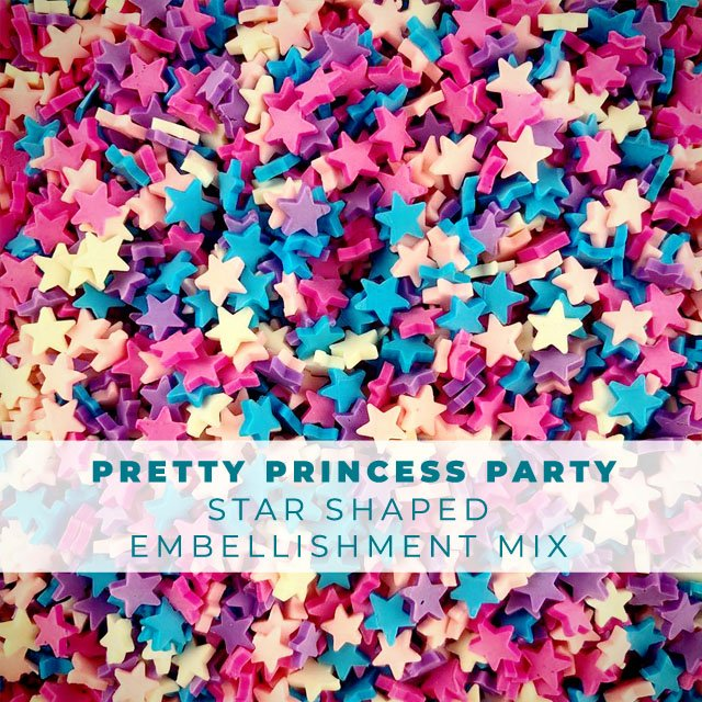 Pretty Princess Party Star Sprinkle Embellishment Mix