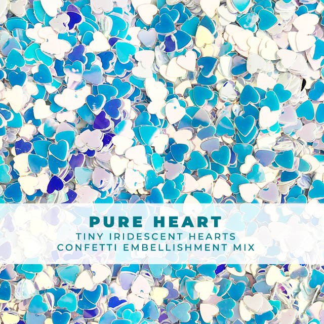 Pure Heart - Itty-bitty iridescent heart confetti