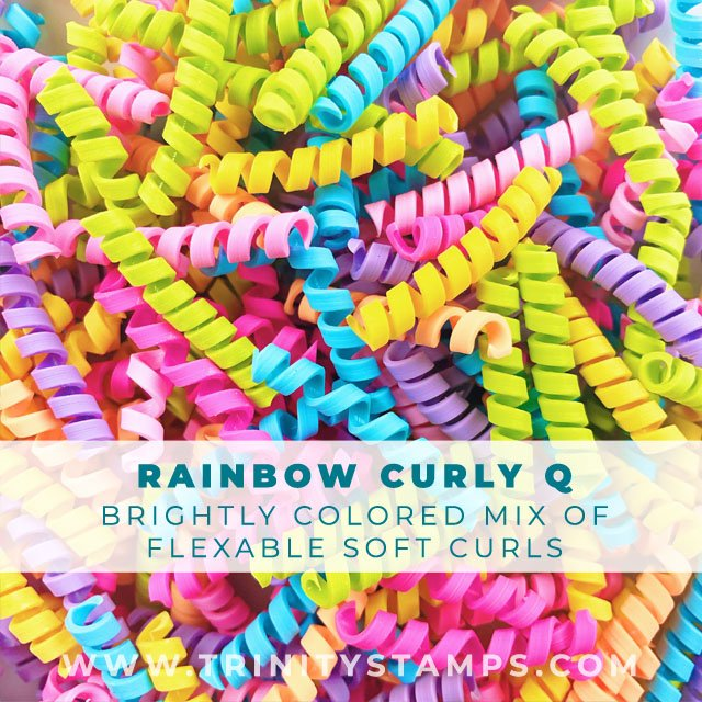 Rainbow Curly-q's: flexible and soft faux candy curls
