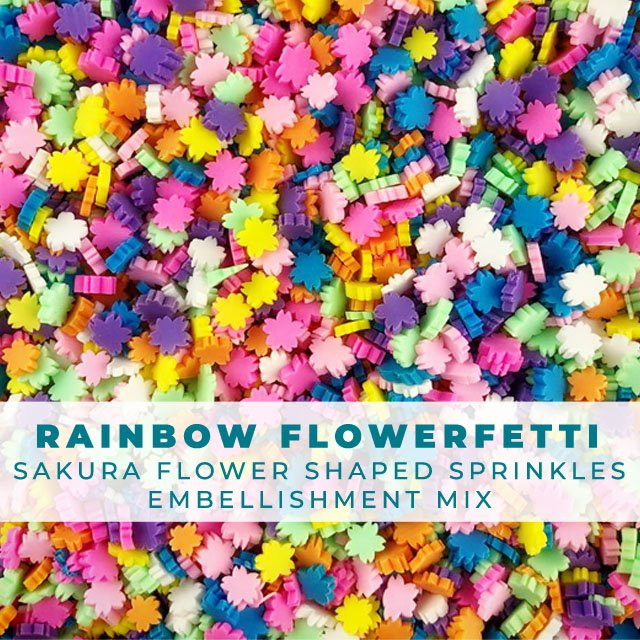 Rainbow Flowerfetti - Sakura Shaped Flower Sprinkle Embellishment Mix