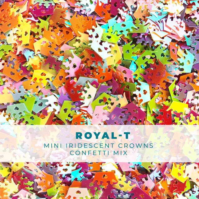 Royal-T: Mixed Crown Shaped Confetti
