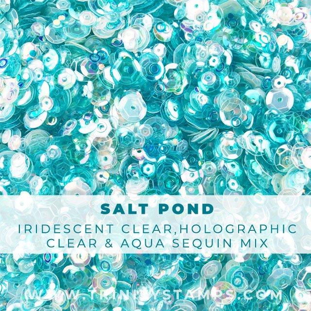 Salt Pond:  Shimmery sequin shaker mix