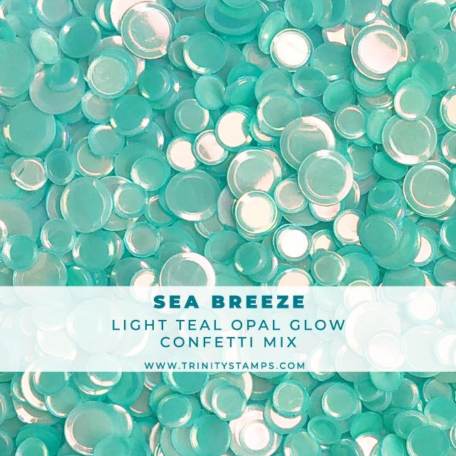 Sea Breeze opal sheen confetti mix