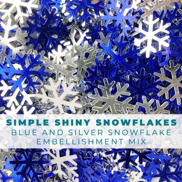 Simple Shiney Snowflakes - 10mm Snowflakes Embellishment Mix