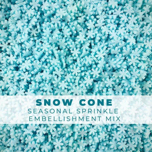 *Sprinkles* Snow Cone - Snowflakes Sprinkle Embellishments