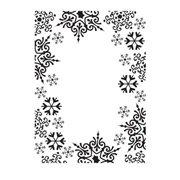 Snowflake Frame Embossing Folder