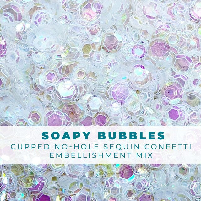 Soapy Bubbles Clear Iridescent Sequin-like Confetti