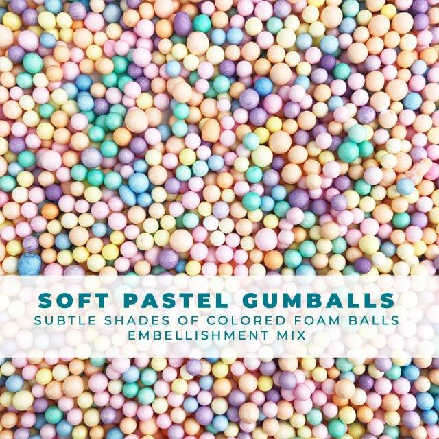Soft Pastel Gumballs - Embellishment Sprinkles Mix