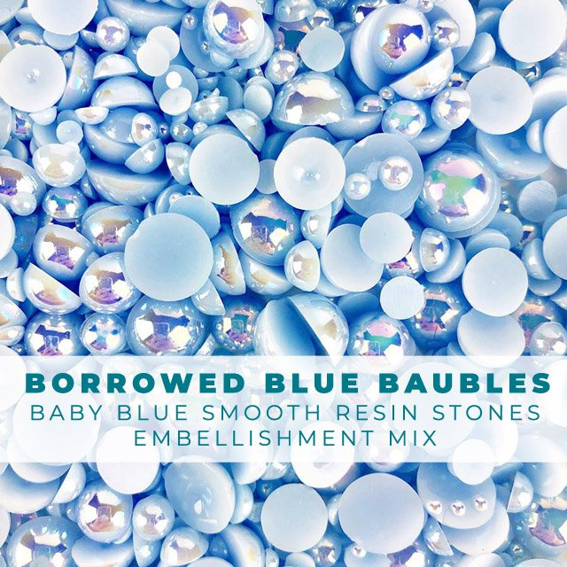 Borrowed Baby Blue Smooth Baubles