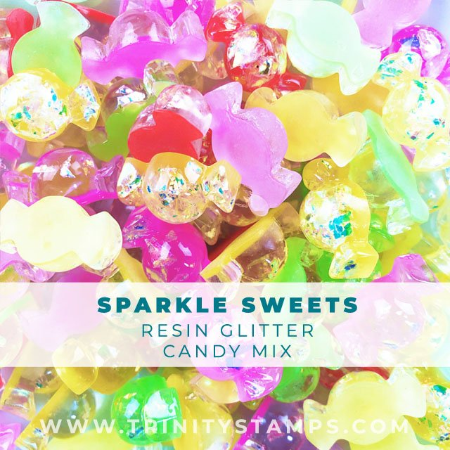 Sparkle Sweats: Candy shaped resin glitter charm mix