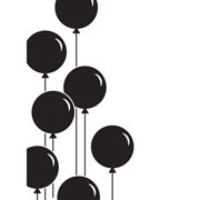Balloon Border embossing folder