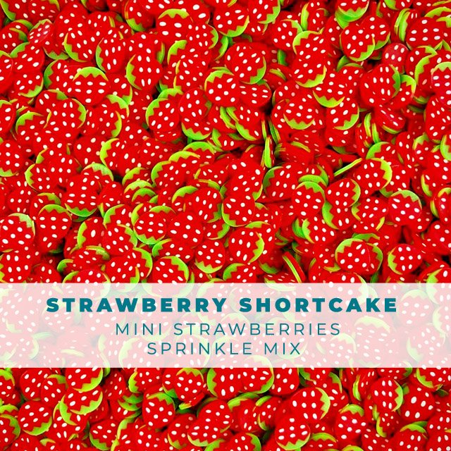 Strawberry Shortcake- Fruit Sprinkle Embellishment Mix