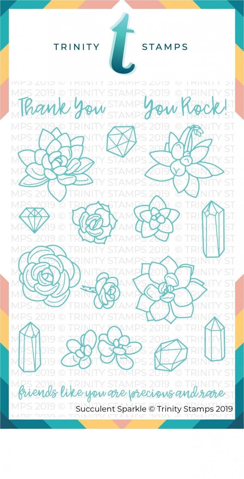 Succulent Sparkle 4x6 Stamp Set