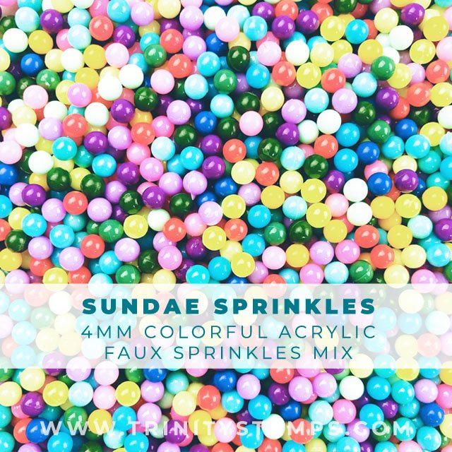 4mm bright and colorful SUNDAE Party sprinkles Mix