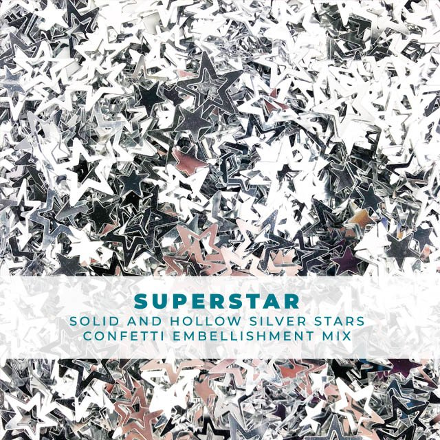 Superstar - Solid and Hollow Star Shaped Confetti