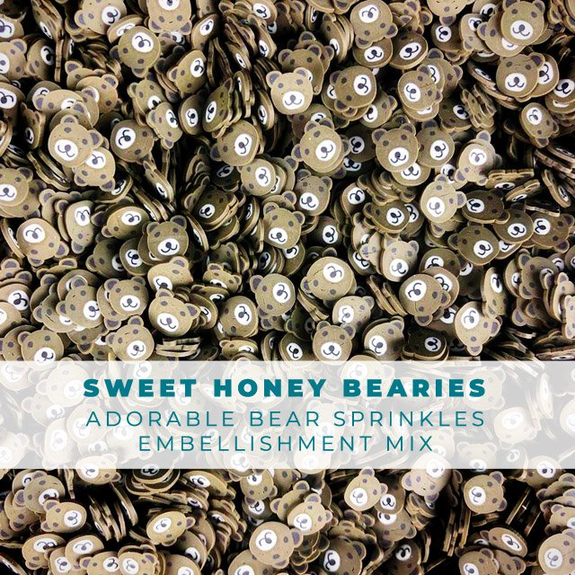 Sweet Honey BEARies Animal Sprinkles Embellishments