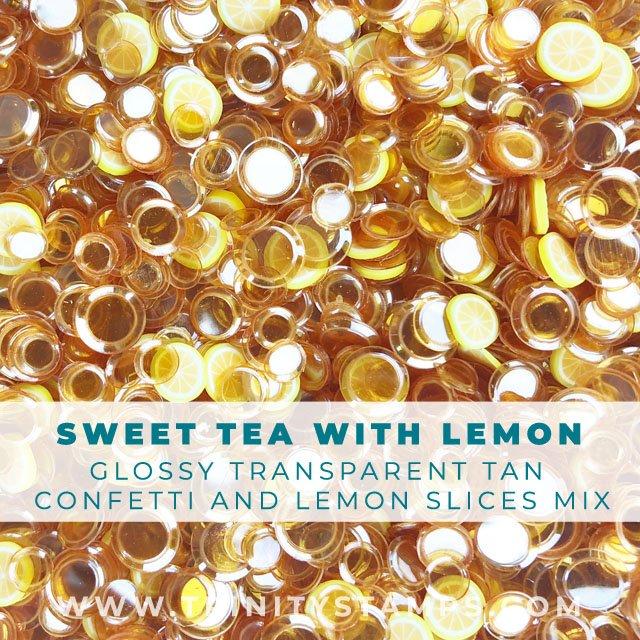 Sweet Tea:  shiny confetti mix with lemon slice sprinkles