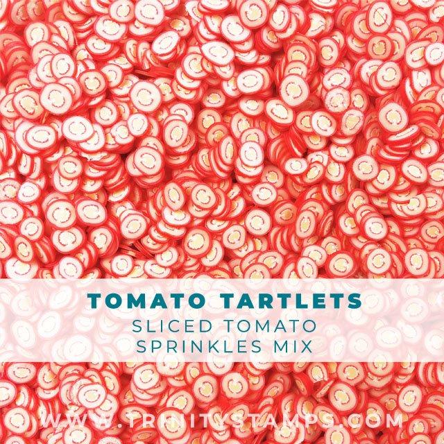 Tomato Tartlets: sliced tomato sprinkles