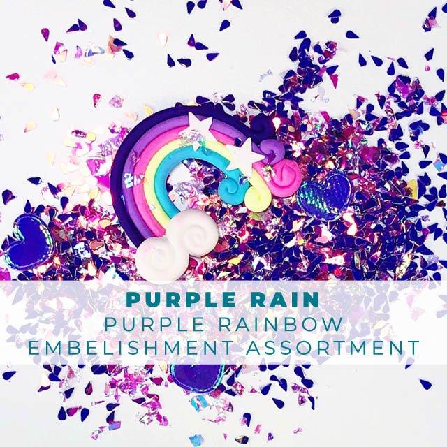 Purple Rain Embellishment Assortment
