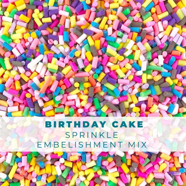 *Sprinkles* Birthday Cake Sprinkle Embellishments