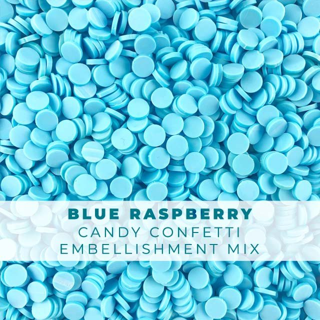 *Sprinkles* Blue Raspberry Candy Confetti Embellishments